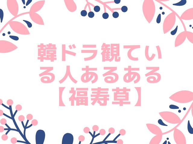 韓ドラ観ている人あるある【福寿草】感想&あらすじ | ハマり度がわかるテスト付き
